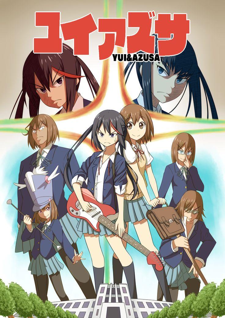 kon! x kill la kill Anime Crossovers Pinterest Kill