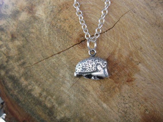 Happy Hedgehog Metal Clay Necklace by crobinsondesign on Etsy