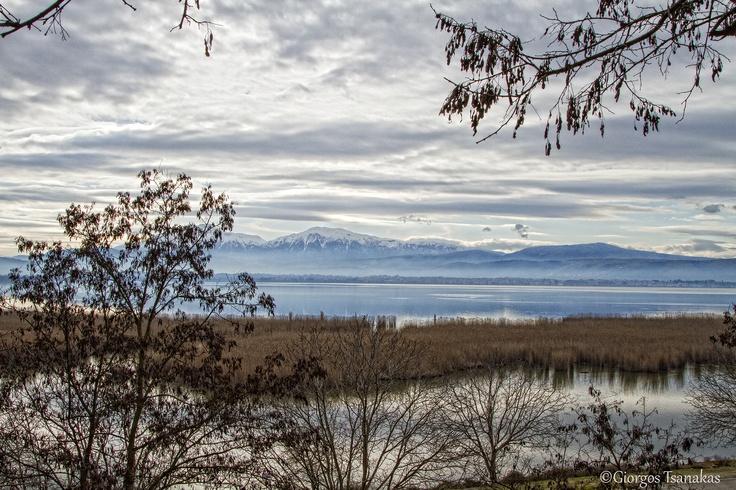 View of the lake at Ioannina, Greece (13/1/13)