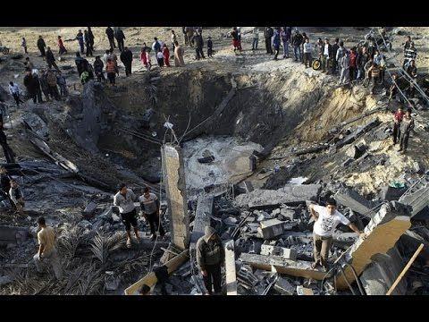 Israel Palestine War 2014 : Israeli Missile Collapsed   RAW VIDEO