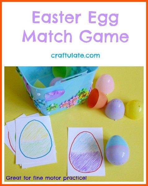 Easter Egg Match Game from Craftulate - works on fine motor skills!