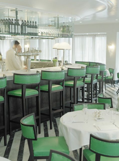 Cecconis, a chic Italian restaurant in London, Klismos Chairs