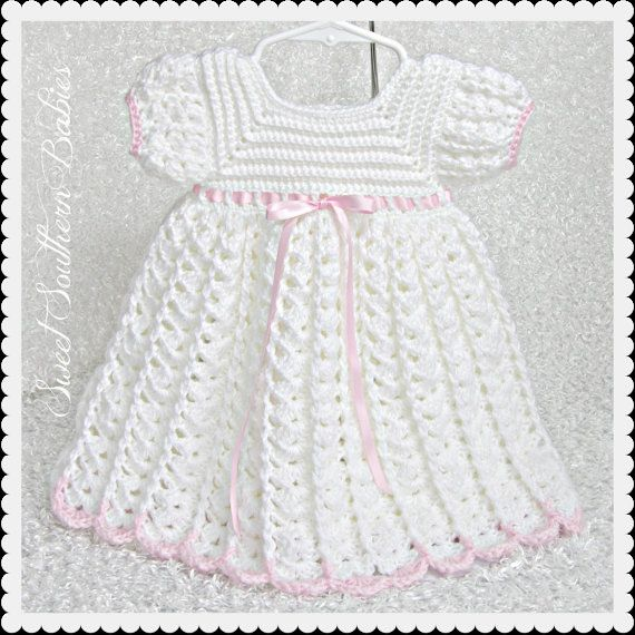 Baby Girl's White Dress - Baptism, Wedding, Easter, Special Occasion