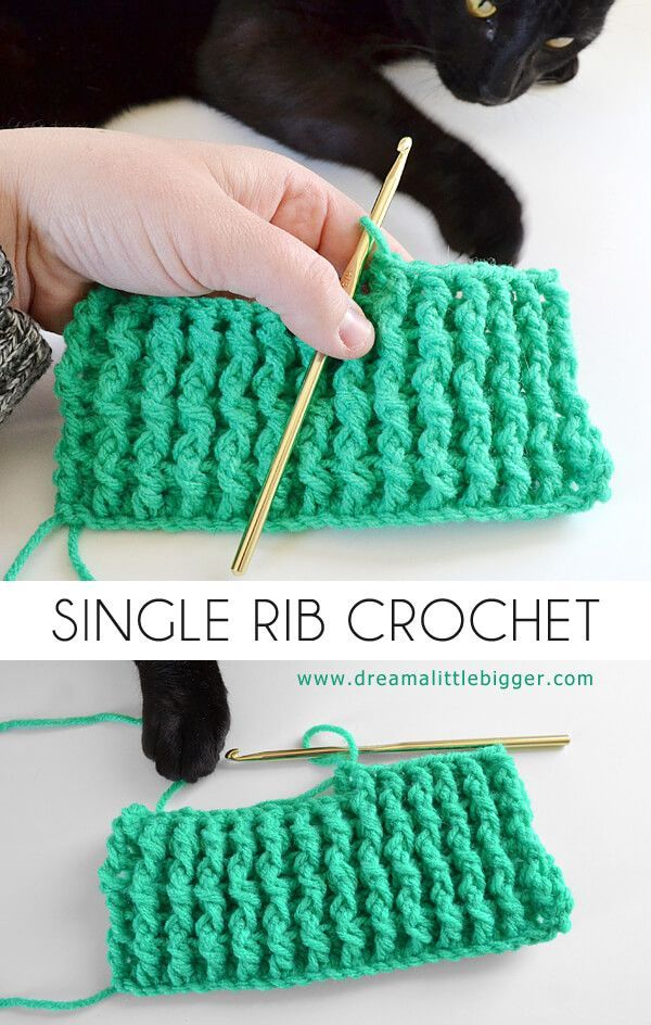 The single rib crochet stitch is super simple to do. If you can double crochet and chain you're in business to whip up some awesome crochet texture!