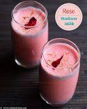 Rose badam milk recipe