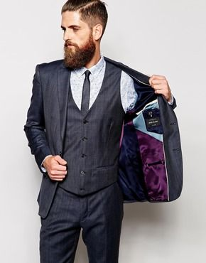 Enlarge River Island Suit Jacket with Navy Check