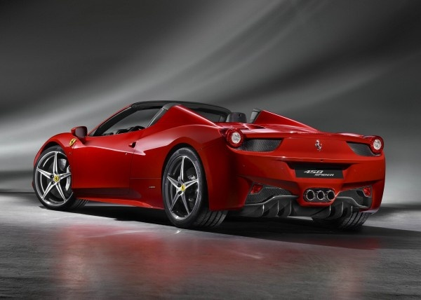 red 2012 Ferrari 458 Spider
