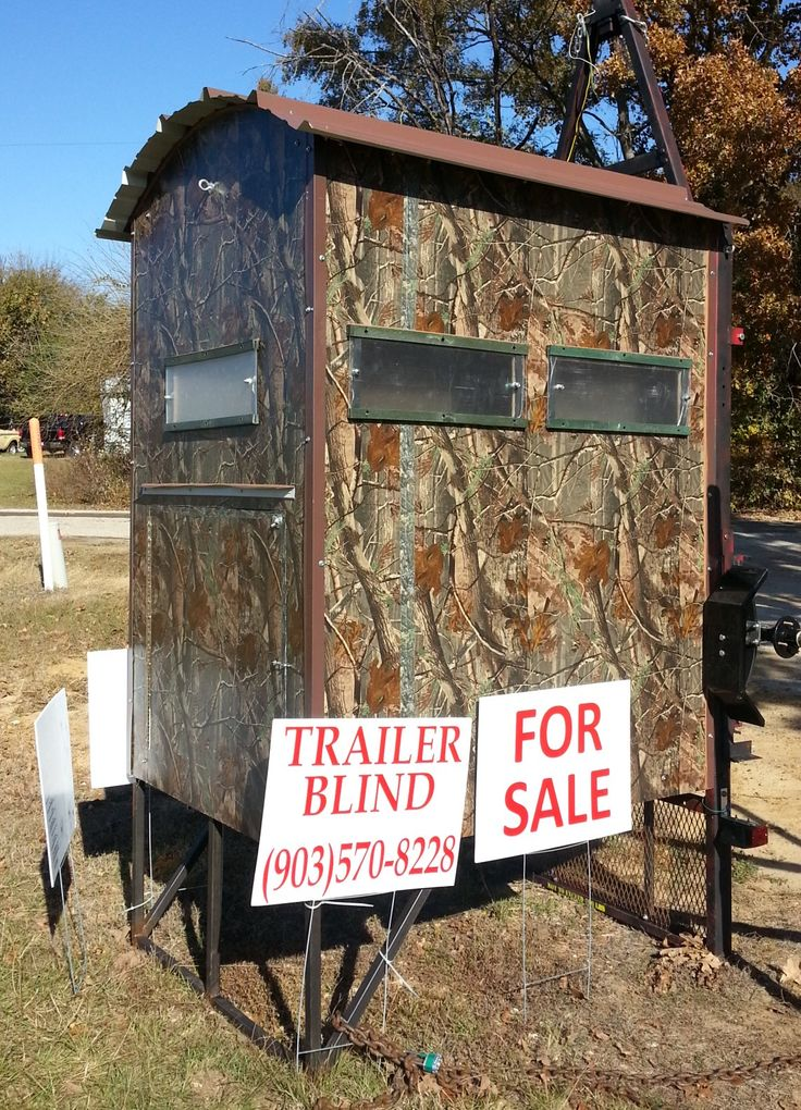 Deer Blind Fully Portable Built On A Small Trailer So It