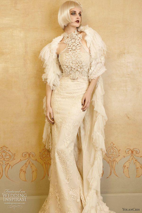 great gatsby wedding dresses fur | Share