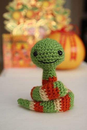 Little New Year Snake by Little Muggles #crochet #amigurumi #snake