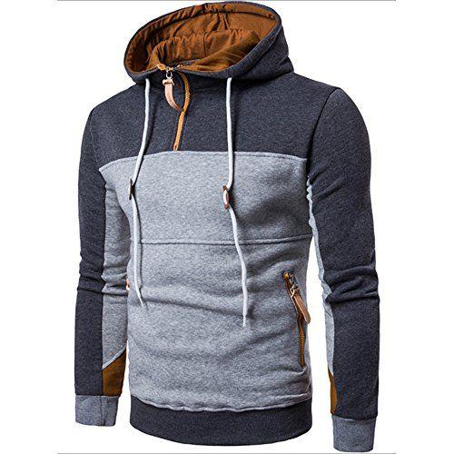 MRULIC Herren Kapuzenpullover Hoody Sweater Winter…