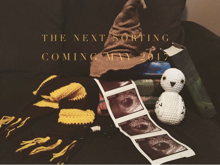 Our second Pape baby announcement. Harry Potter themed