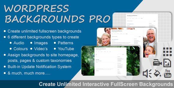 New WordPress plugin released - WordPress Backgrounds Pro. Fullscreen Interactive Backgrounds. Grab your copy today! http://bit.ly/wordpress-backgrounds-pro