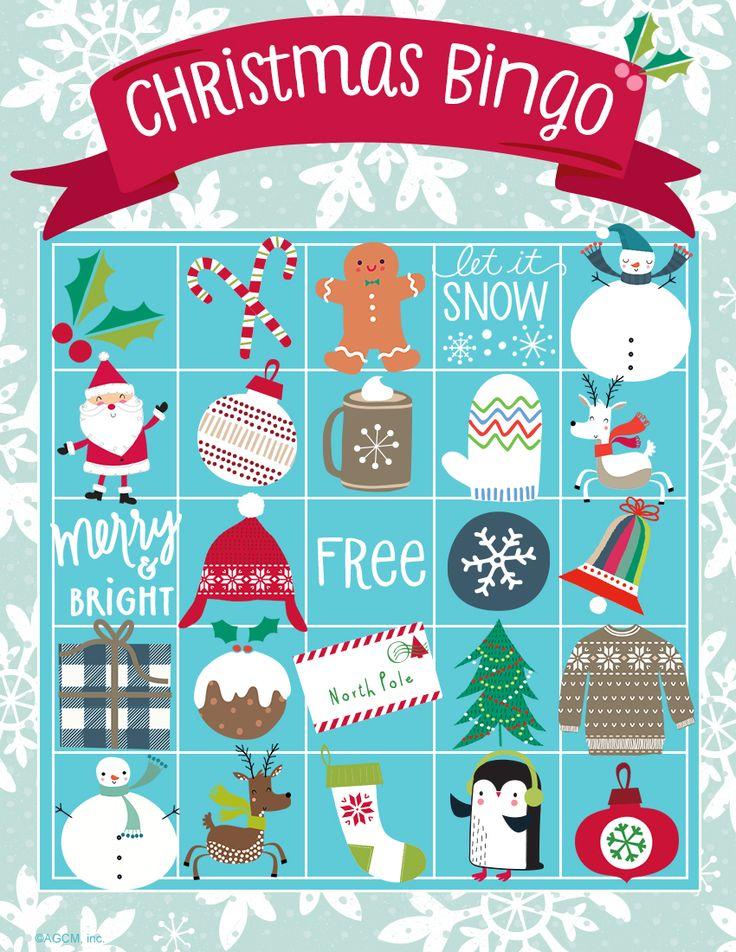 Printable Christmas Bingo Card Christmas bingo cards
