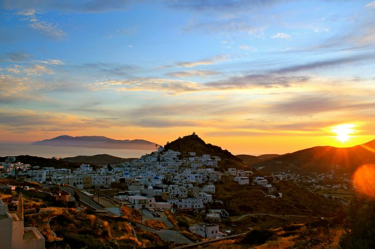GREECE CHANNEL    Sunset in Ios, Greece by Christine B on 500px