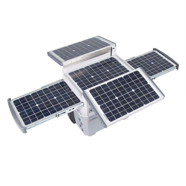Provides AC or USB power from sunlight. Great for camping or travel to remote locations.