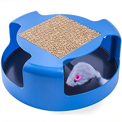 • OxGord a leader in pet toys and pet supplies is proud to offer you our take on the classic game of cat & mouse. Introducing the Cat And Mouse Chase Toy. This fun chase toy and scratch pad is the p...
