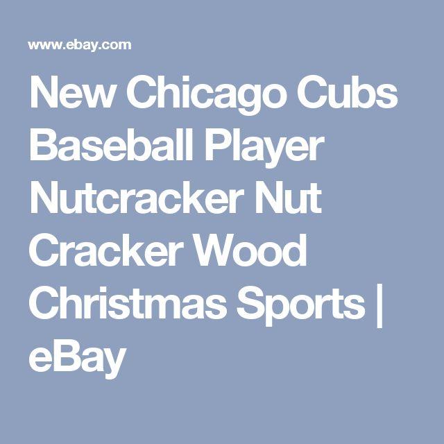 New Chicago Cubs Baseball Player Nutcracker Nut Cracker Wood Christmas Sports | eBay
