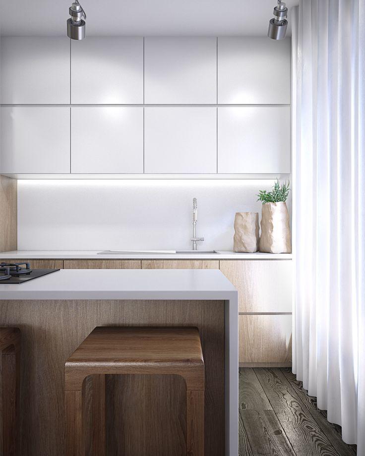 Private Project | Wooden Kitchen Interior Visualization