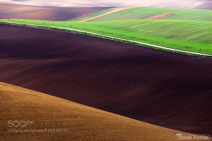 Autumn fields at south Moravia reminds me some kind of modern art. Czech Republic October 2015.  Feel free to follow me at: https://www.facebook.com/tomas.vocelka http://www.tomasvocelka.cz fotovocelka@gmail.com