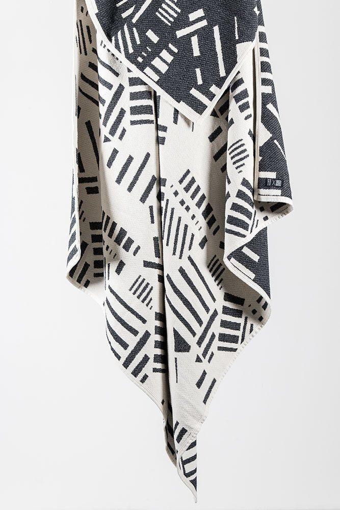 CoopDPS Brazil Cotton Blankets by Nathalie Du Pasquier & George Sowden - Black / White 140 x 160cm - ZigZagZurich   - 1
