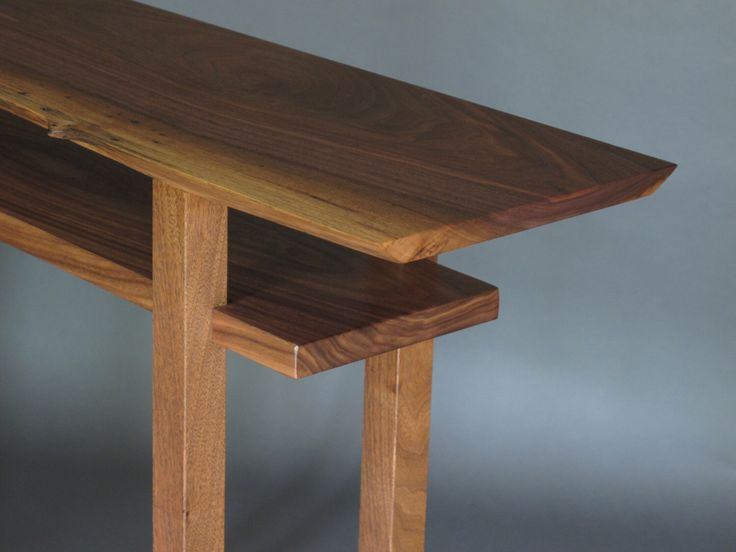 Live Edge Table: Narrow Side Table, Tall Sofa Table, Live Edge Console Table