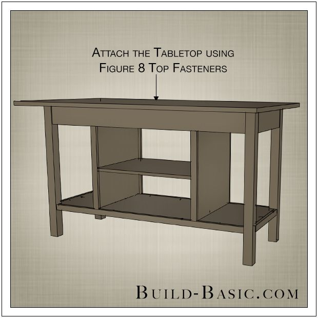 Diy open kitchen island by build basic step 12 for Off the shelf kitchen units