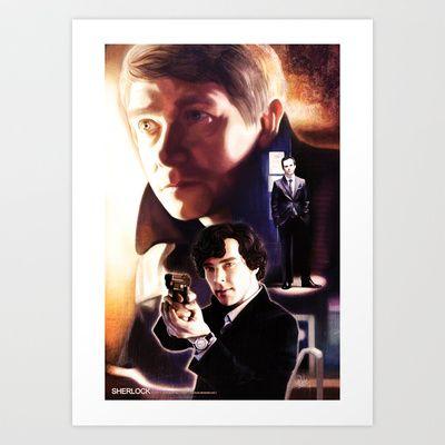Sherlock - Hi! Art Print by T.Wolv - $17.99