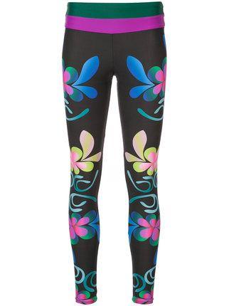 Cynthia Rowley Shock Wave floral surf leggings