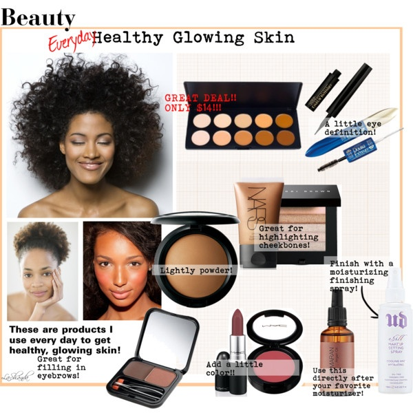 Everyday Healthy Glowing Skin!, created by lashandanista on Polyvore