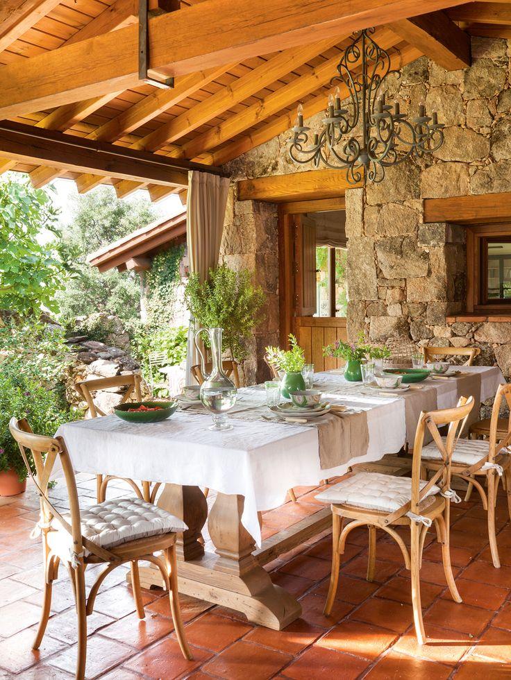 porche r stico con comedor mesa de comedor elegi y