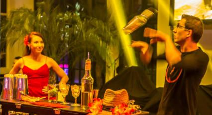 Hire a flair bartender in Manchester www.hireabarman.com