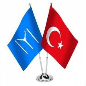 Kayı Türk Boyu Ve Türkiye - Saten Masa Bayrağı GittiGidiyor'da 265211722