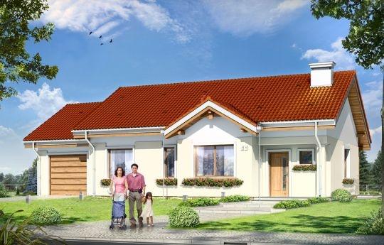 Projekt Cypisek 3 jest powiększoną wersję projektu Cypisek. Od wersji podstawowej różni się dobudowanym garażem. Dom przeznaczony jest dla 4-5osobowej rodziny. Budynek zaprojektowano jako parterowy, przekryty dwuspadowym dachem.