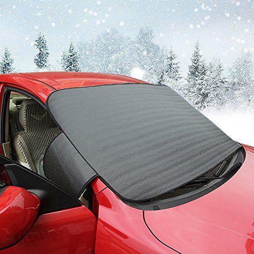 Protection antigel Couverture pare-brise Voiture les Neige, glace, soleil, garde de givre et coupe-vent en toute saison: Notre couverture…