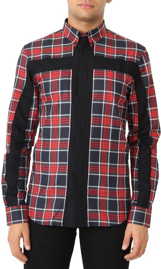 Givenchy Red Check Shirt