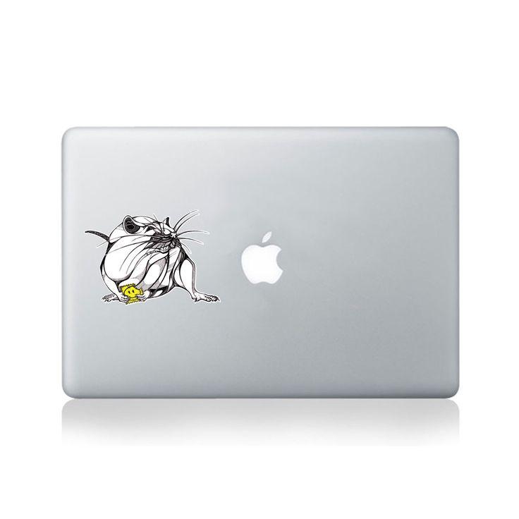 Rat With Acid Tab Vinyl Sticker for Macbook (13/15) or Laptop by George Birch.  https://www.vinylrevolution.co.uk/vinyl-shop/artist-series-shop/rat-with-acid-tab-vinyl-sticker-for-macbook-1315-or-laptop-by-george-birch/