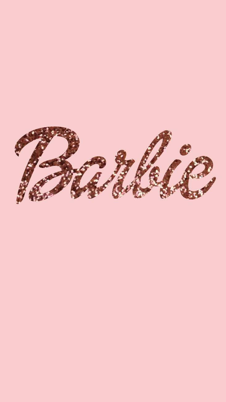Barbie Wallpaper Glitters Rose Gold Phone Sonicka Glammy Pink