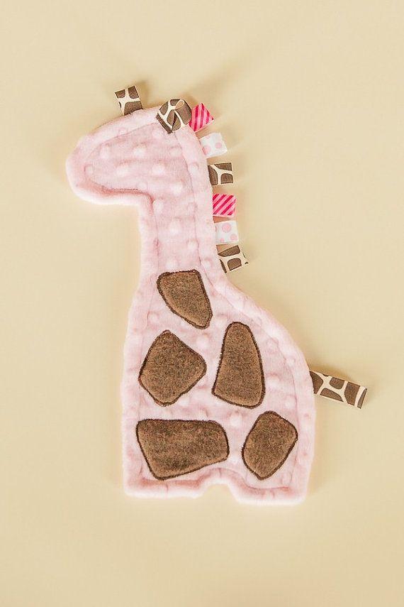 Giraffe minky taggie lovey  Customize for by TheSleepyDinosaur, $20.00