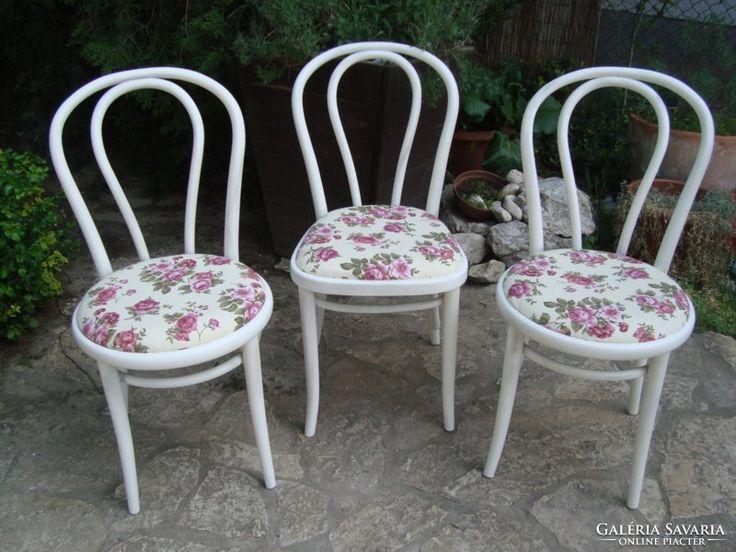 Provence thonet székek 6 db angol rózsás kárpittal