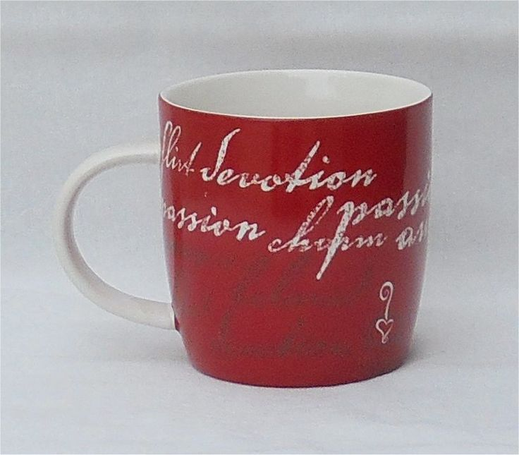 2006 Starbucks Red Valentine Flirt Passion 16 Ounce Coffee Mug #Starbucks