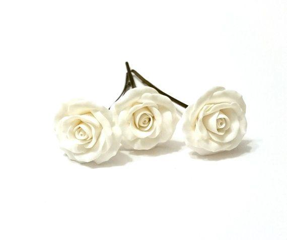 white roses hair pins white roses hairpins by nikushjewelryart wedding style pinterest white roses wedding styles and winter weddings