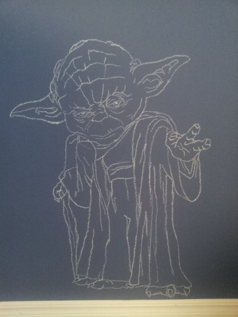 132 best images about chalkboard art on pinterest for Chaise yoda