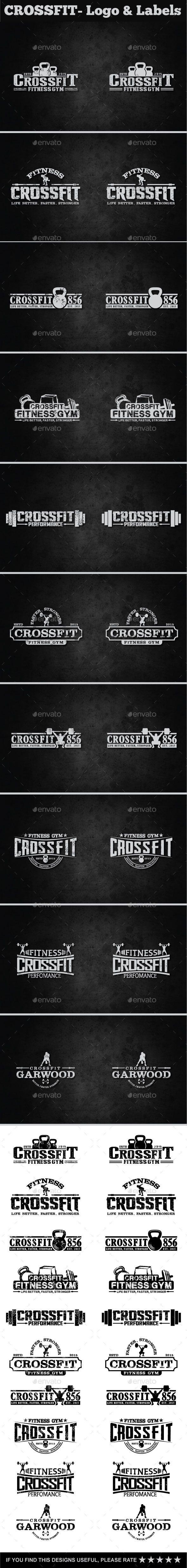 Crossfit- Labels & Logos Design #labels Download: http://graphicriver.net/item/crossfit-labels-logos/11847047?ref=ksioks