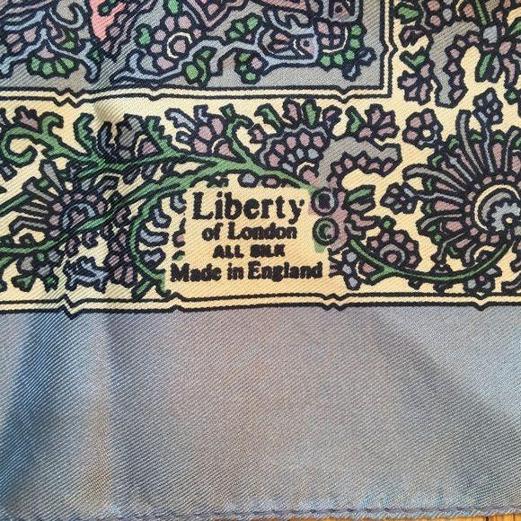 79137b0e6d993 liberty Accessories - Vintage Liberty London Purple Paisley Silk ...