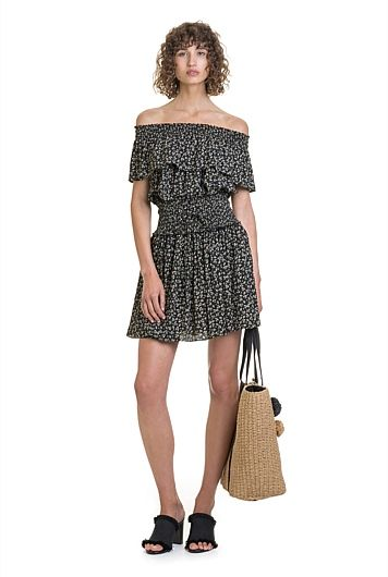 Shirred Off Shoulder Top, Country Road $119.0    http://www.shopyou.com.au/ #womensfashion #shopyoustyle