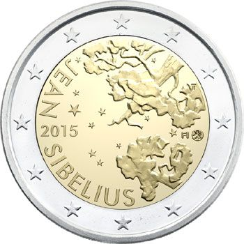 3 new coins issued for the 150th Anniversary of the birth of Jean Sibelius