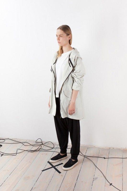kurtki i płaszcze-płaszcz # 8 WHITE RAIN