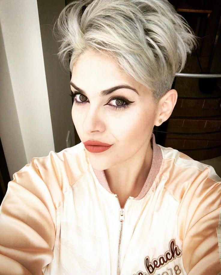 nice Женская стрижка лесенка на короткие волосы (50 фото) — С челкой или без?