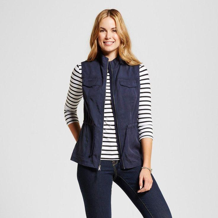 Women's Utility Vest Xavier Navy (Blue) Xxl - Merona